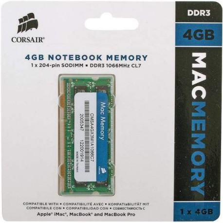 Mémoire vive  So-Dimm DDR3 Corsair 4Go 1066 MHz