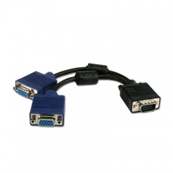 Cable VGA Y Connectland HD15 to 2 x HD15