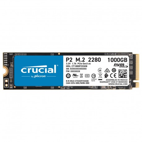 SSD Crucial P2 500Go M.2 Nvme